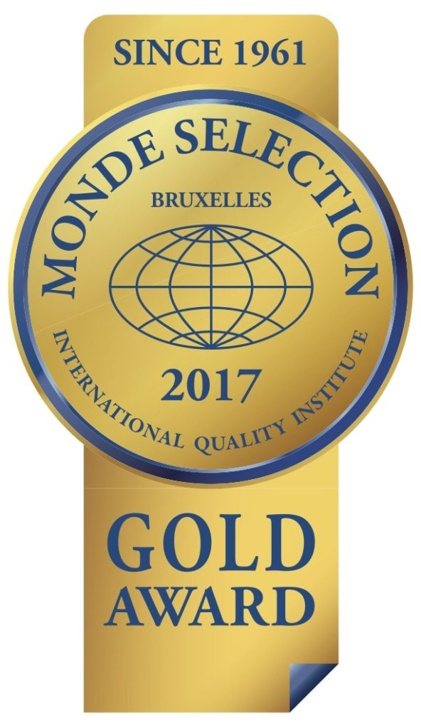 Monde Selection - Gold Quality Award 2017